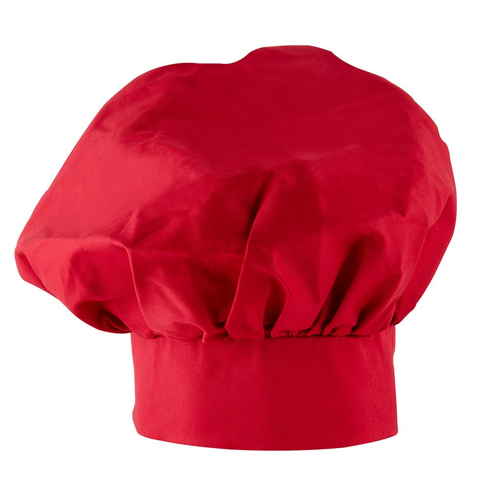 Adjustable Red Twill Chef's Hat by Kitchen Supply