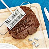 WYD BBQ Barbecue Grill Branding Iron with 55 Changeable Letters Personalised Meat Steak Burger Barbeque Party Accessory Tool