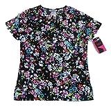 Scrubstar Best Deals - ScrubStar Scrub Top, XSmall, Black Floral Print, Fashion Collection