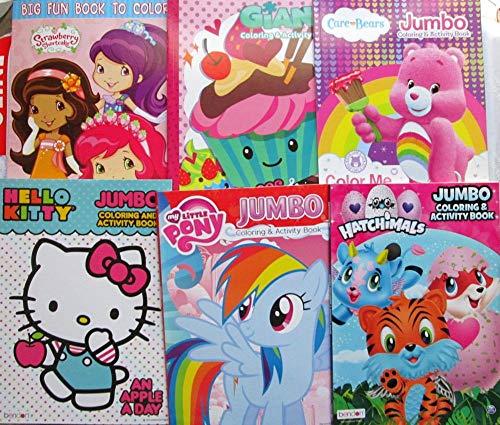 DBK Gifts Coloring Books Bulk Bundle Set --6 Books Frozen Princess Minnie Mouse -