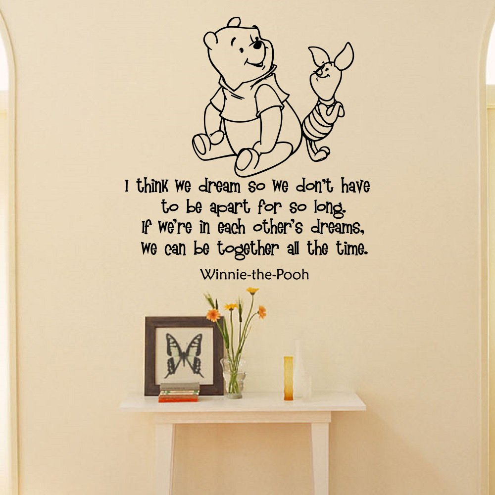 Amazon Wall Decals Winnie The Pooh Quotes I Think We Dream So