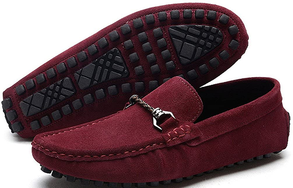 Abby Mens QZ-2018 Fashion Comfort Cozy Cosiness Message Chirismus Driving Flat Leather Shoes