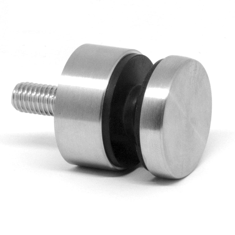 Glaspunkthalter Punkthalter Glas Halter Edelstahl V2A Flach mit Schraube x 8 St/ück