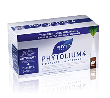 Phyto phytolium Energizante Botanical concentrado cuero cabelludo Tratamiento, 12 x 3,5 ml