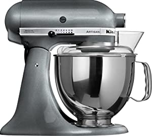 KitchenAid KSM150PSPM Artisan Series 5-Qt. Stand Mixer with Pouring Shield - Pearl Metallic