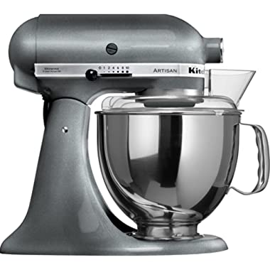 KitchenAid KSM150PSPM Artisan Stand Mixers, 5 quart, Pearl Metallic