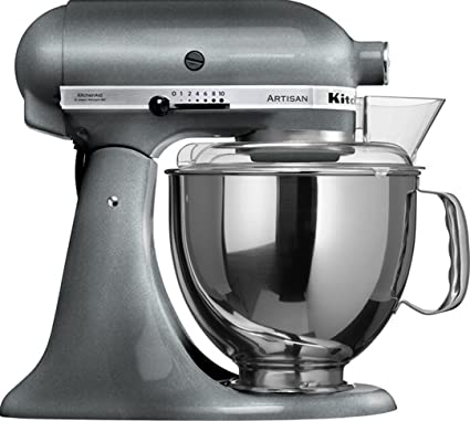 Exceptionnel KitchenAid KSM150PSPM Artisan Series 5 Qt. Stand Mixer With Pouring Shield    Pearl Metallic