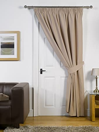 Thermal / Blackout Door Curtain - 66 x 84 Cream Latte: Amazon.co ...