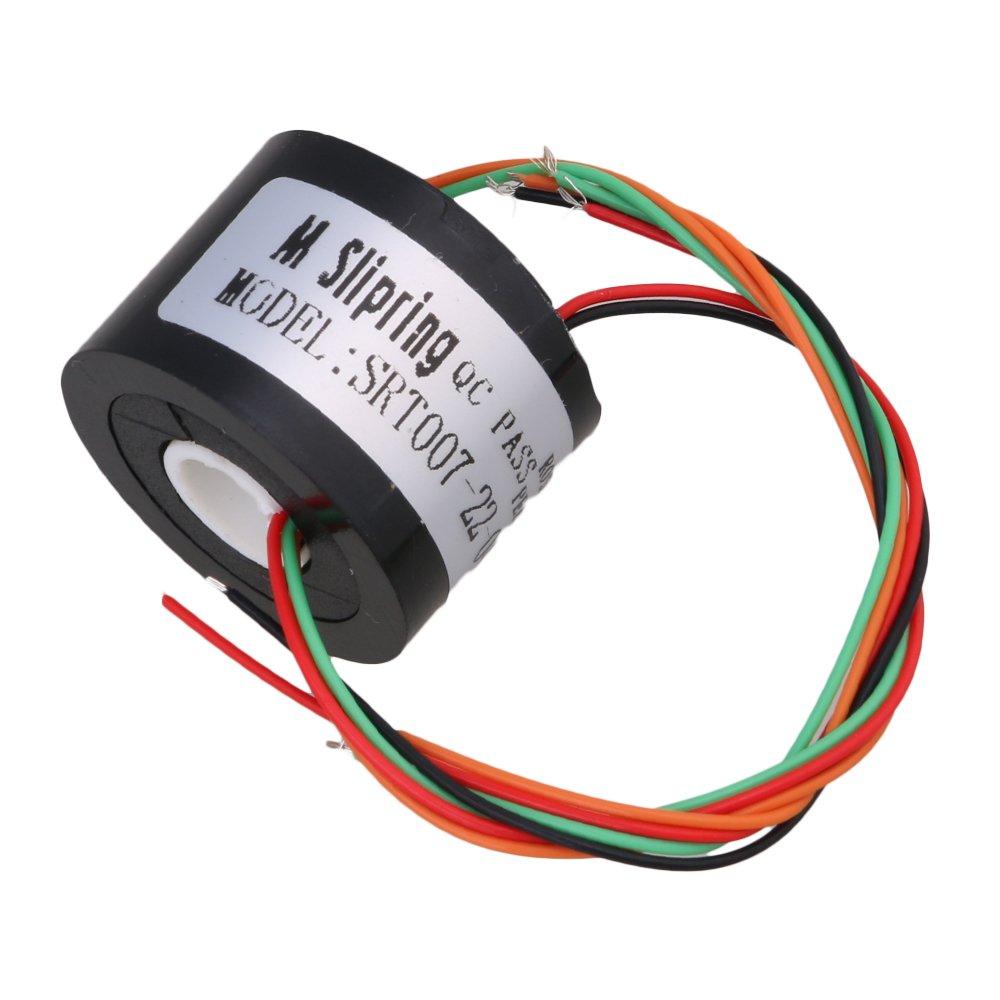 cnbtr 4 cables 7 mm Diá metro del agujero actual conductores circuitos a travé s de agujero Slip Anillo 220 V AC/DC 1, 5 A Cable de coleccionista Anillo 22 mm 5A Cable de coleccionista Anillo 22mm yqltd