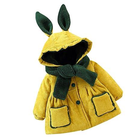 LILICAT❋ Orejas de Conejo de Manga Larga para niñas, más una Chaqueta de Terciopelo