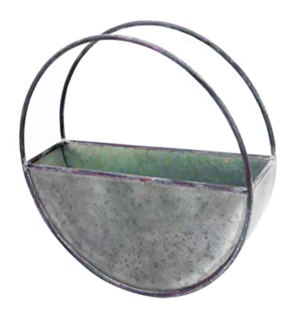 Half Circle Planter Hanging Garden Decor Flower Pot Outdoor Indoor Small  Frame Planter Herb Patio Yard
