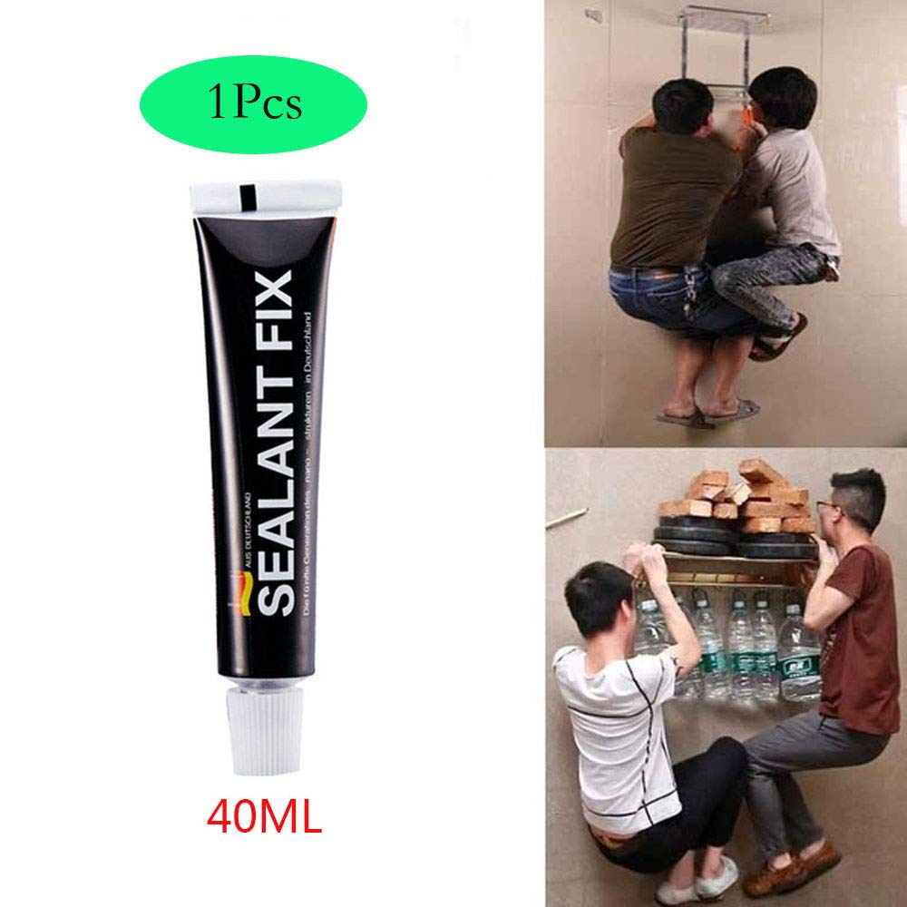 043687599870 Dirance Nail-Free Glue Seal Glue Fixed Waterproof and Quick-Drying Glue 12ML/14ML/40ML, Suitable for Glass Glue Polymer Metal (12ML)
