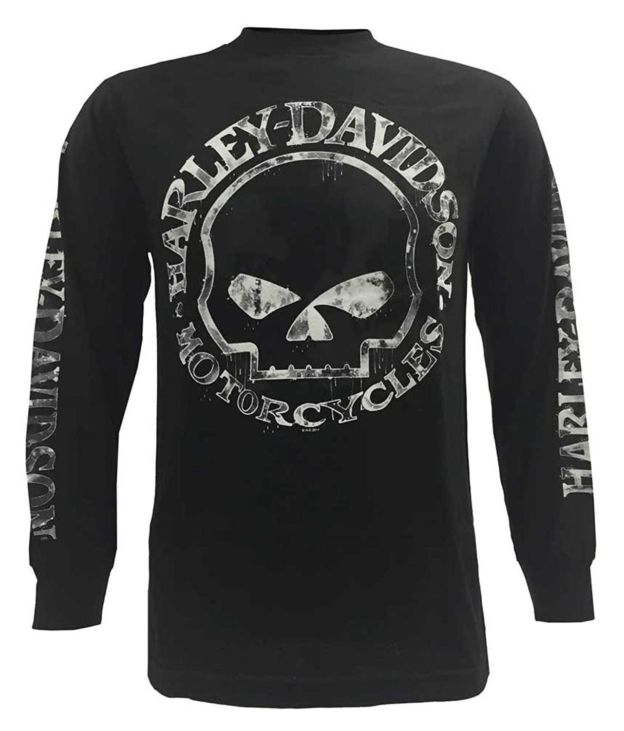 Harley-Davidson Men's Shirt, Hand Made Willie G Skull Long Sleeve 30294032