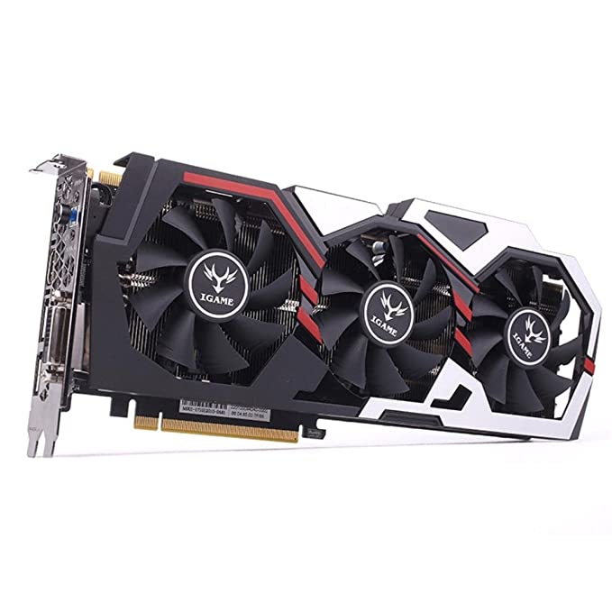 Amazon.com: UMFun Colorful iGame GTX 1070Ti Vulcan U Top Graphics Card,GPU 1607/1683MHz 8G 256bit Video Cards I3P5 For Desktop Super External Card: ...