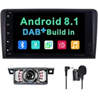 Android 8.1 stereo auto radio DAB + (integrata) Sistema per Audi A3/S3/RS3 navigatore satellitare GPS 20,3 cm supporta Bluetooth controllo del volante touch screen Mirrorlink subwoofer