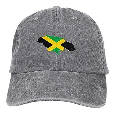 WKP0XKA Men and Women Cap Flag Of Jamaica Unisex Flat Bill Hip Hop Cap Baseball Hat Head-Wear Cotton Trucker Hats Ash