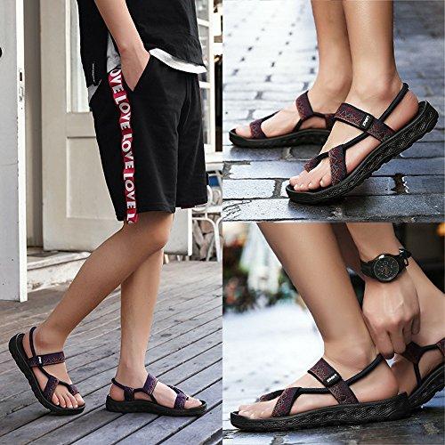 Red adatti casual tempo libero sandali del da uomo slip confortevole sport estivi sandali Xiaoqin sportivo toe per slip Open gli H7qnxwRB