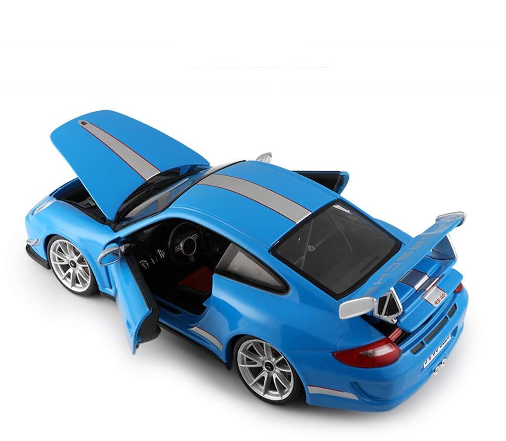 GYZS-TOY Porsche 911 Automodell 1:18 PorscheGT3 Simulationslegierung Ursprüngliches Sportwagenmodell Sportwagenmodell Sportwagenmodell (Farbe : Blau) d5fd45