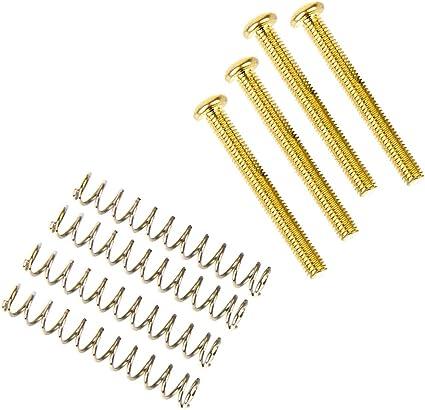 4 Humbucking Mounting Screws w//Springs 1-1//4 Nickel