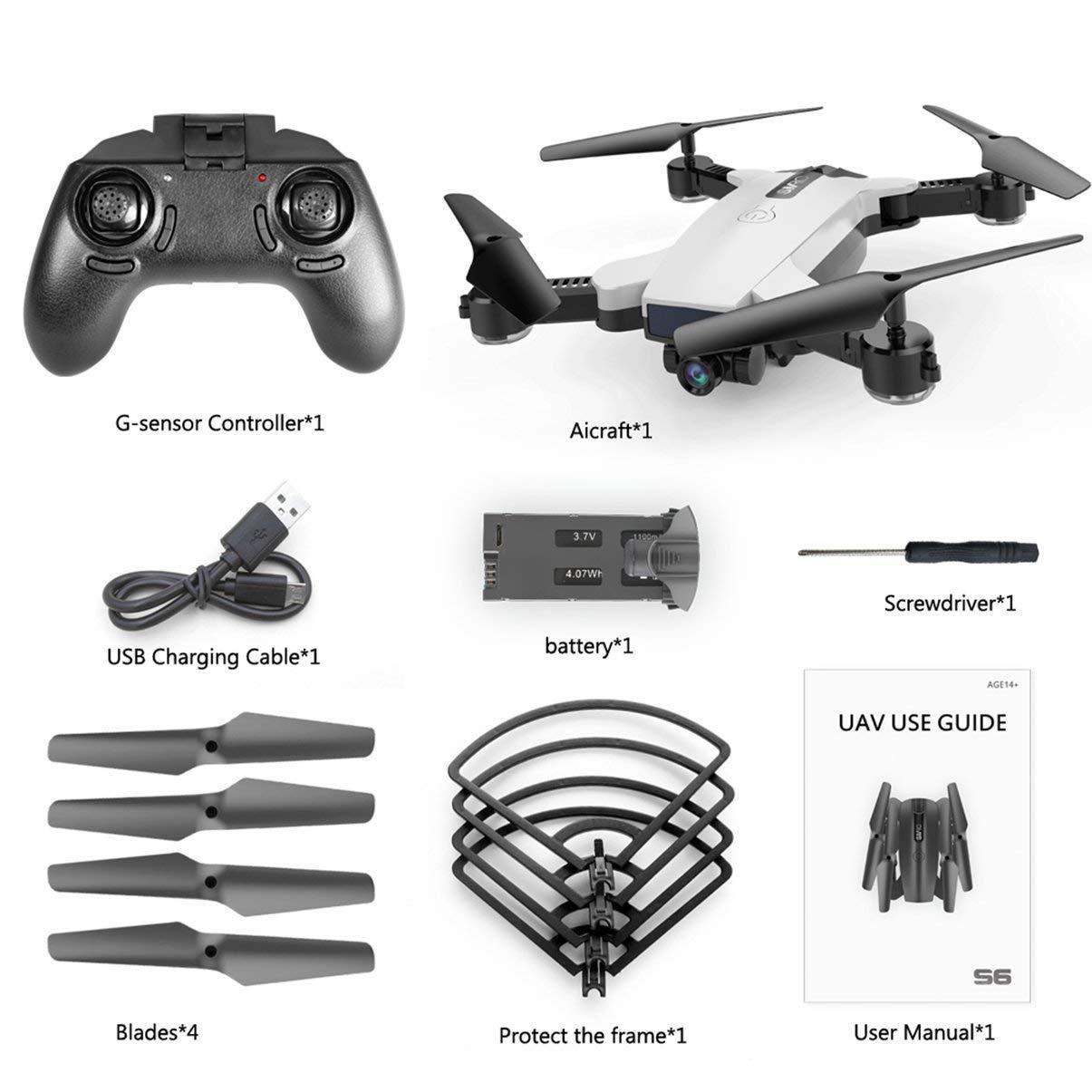 JullyeleDEgant S6 720P HD WiFi Kamera Quadcopter Höhe Halten Fernbedienung Quadcopter Kamera Drohne Flugzeuge