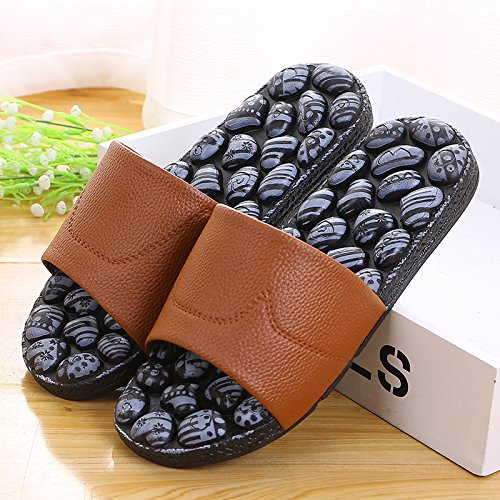 slippers antiskid indoor slippers 41 bathroom Massage Brown nqpf6wax4
