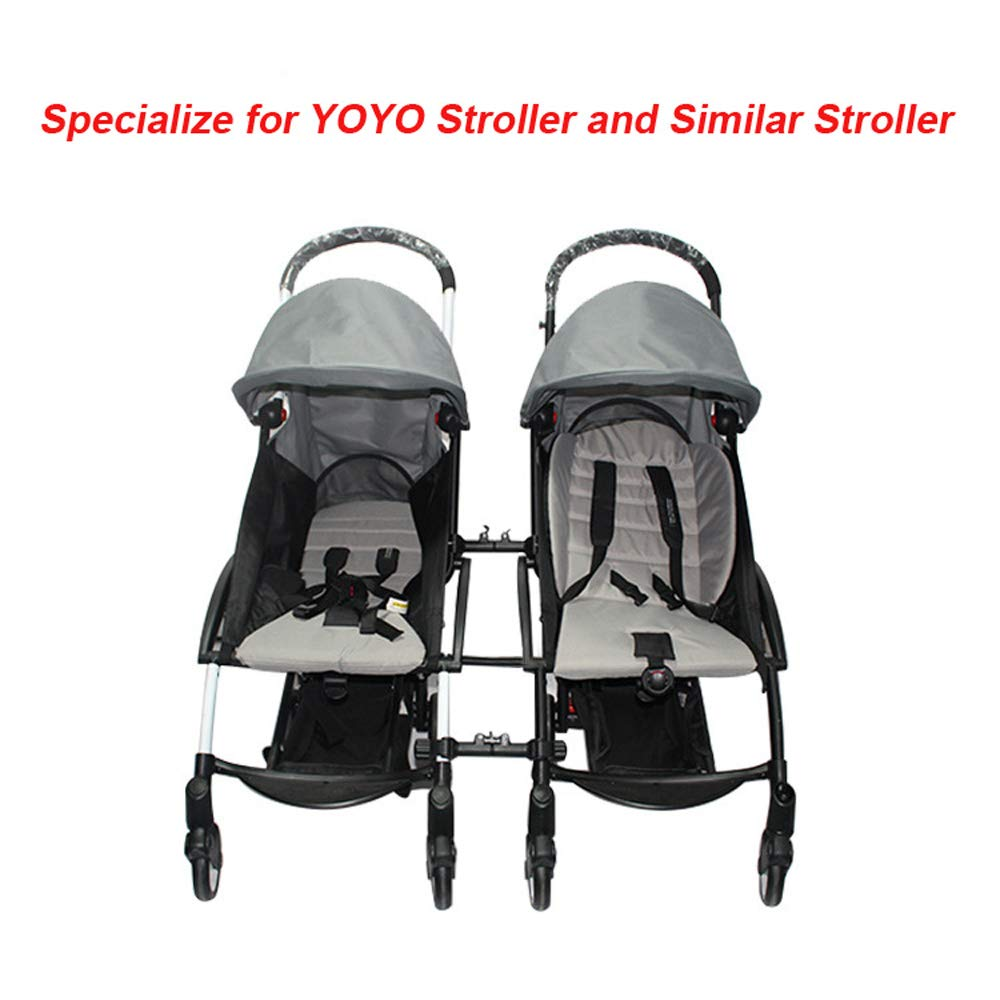 Stroller Connectors, Turn 2 Strollers into an Instant Tandem Stroller, Fits Most Strollers by ROMIRUS (Image #2)