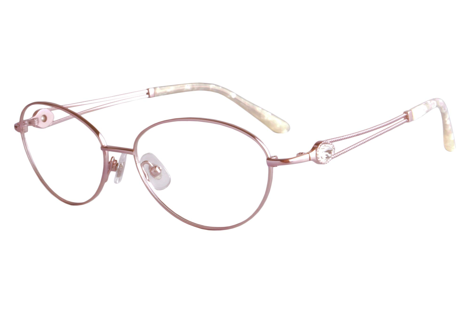 SHINU Womens Ultra Light Titanium Frame Blue Light Blocking Computer Myopia Glasses for Shortsighted Eyes-FA966(pink frame, anti-blue lens -1.00 power)