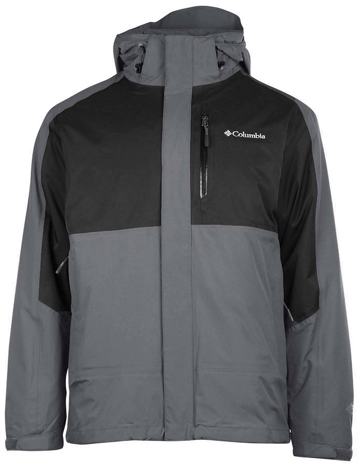 (コロンビア) Columbia Rural Mountain 3イン1交換可能オムニヒートジャケット メンズ B01MTUQK5L S|Gray/Black Colorblock Gray/Black Colorblock S