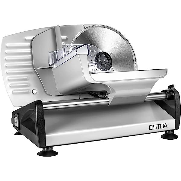 Orbegozo MS 4570 ajuste de grosor de corte y deslizador de seguridad extraible 150 W Cortafiambres met/álica con cuchilla de acero inoxidable