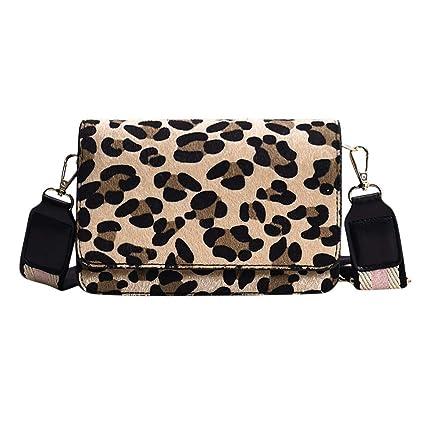 484fb2e7dd4ef Bfmyxgs Umhängetaschen für Frauen Mädchen Leopardenmuster Solide Zipper  Satchels Polyester mit Innentasche Reißverschluss Kleine Klappe Taschen Für  Frauen ...