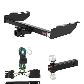 amazon com curt trailer hitch, wiring \u0026 ball mount for chevy Silverado Step Bumper