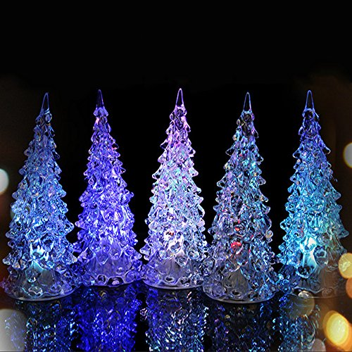 3 Pcs Multi-color Changing LED Christmas Tree Decoration Light Xmas Night Light (Party City Bay Plaza)