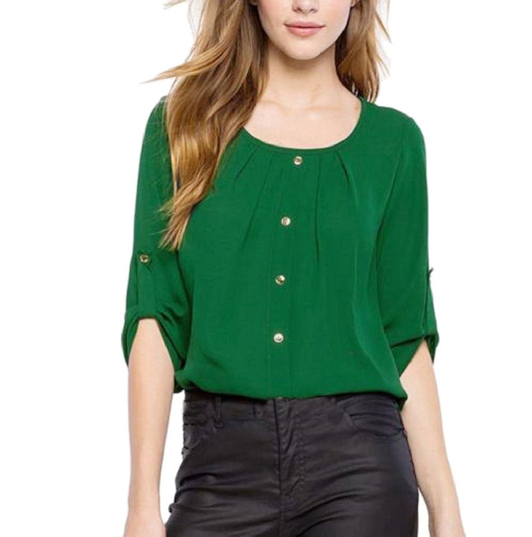 03dc475a40451d dauerhafte Modellierung Sommer Bluse Damen Rosennie Chiffon Beiläufig Tops