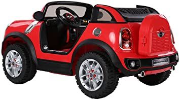 licensed mini cooper two seater premium ride on electric toy car for kids 12v