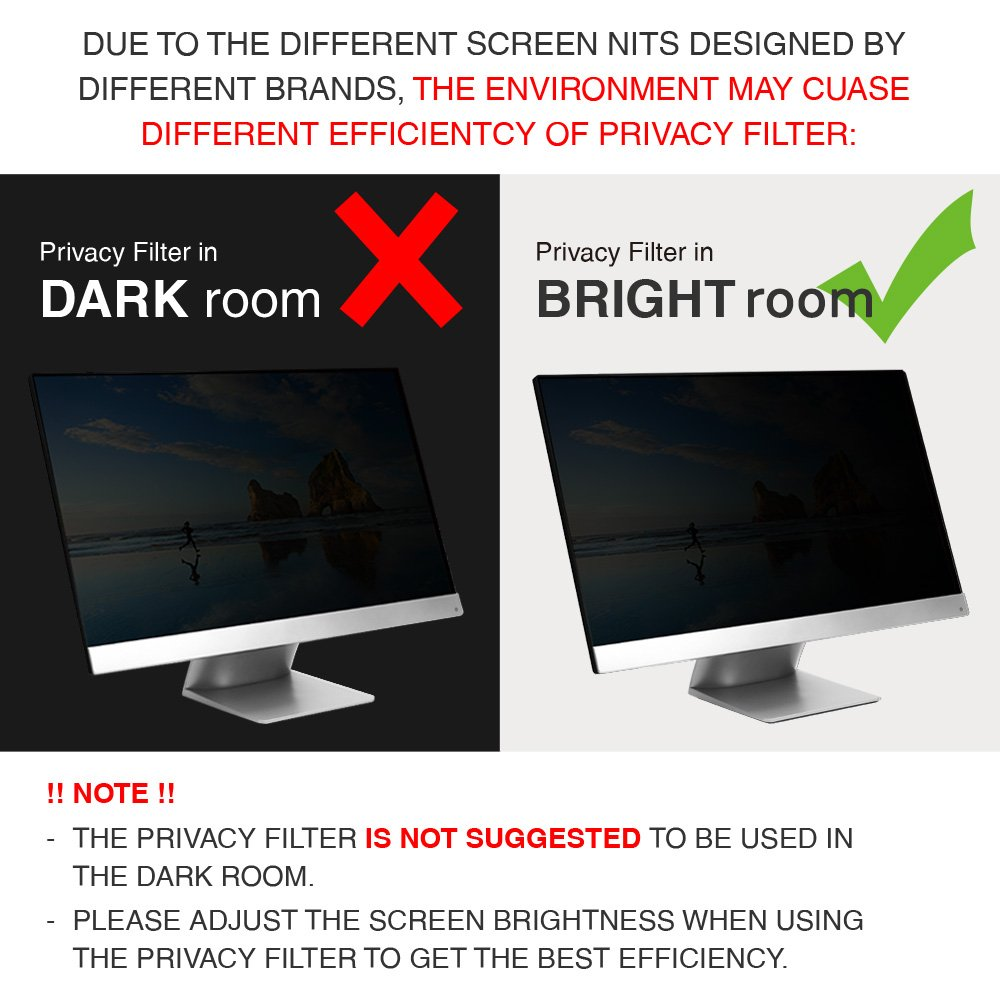 22 Inch Privacy Screen Filter for Widescreen Monitor ( 16:10 Aspect ratio) by J-Dream (Image #6)