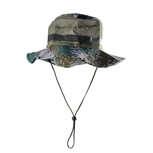Outdoor Mesh Sunshade Fisherman Fishing Hat Sun Cap Bucket Hat with ... dc67c2db11f