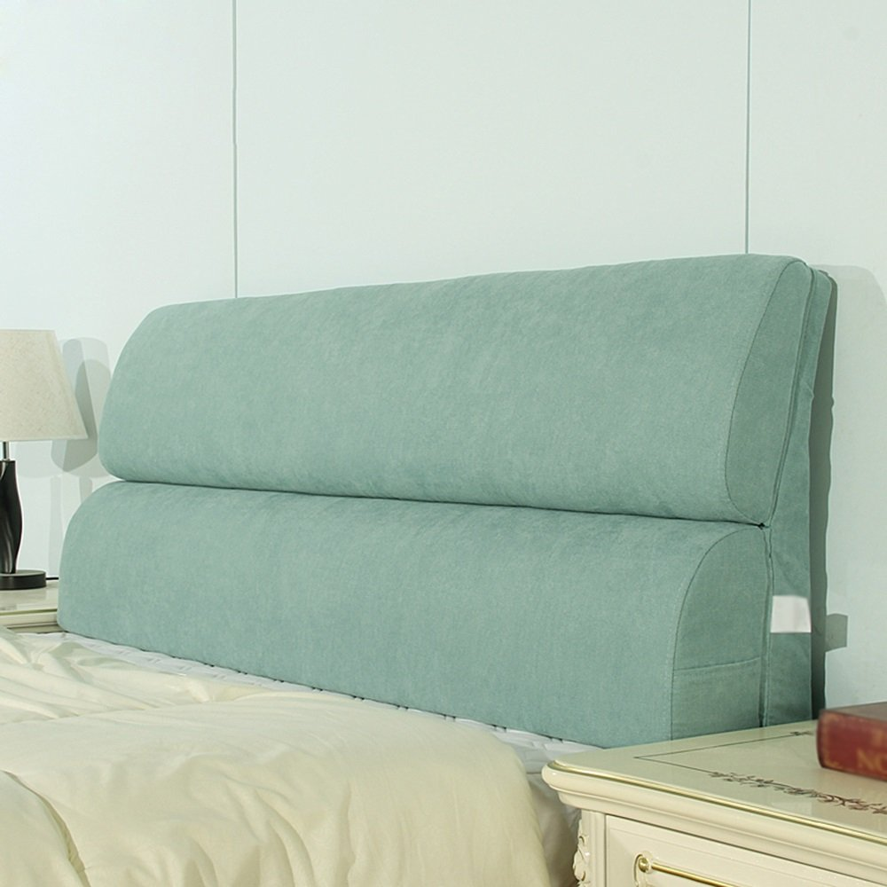 Double bed head cushion / bed soft cushion large cushion / large backrest / washable waist cushion / Sofa backrest ( Color : A , Size : 15355cm )