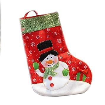 SPFAZJ Navidad Medias Navidad Adornos Navidad Calcetines Navidad Regalo Bolsas Navidad pequeños Calcetines Alto 26 Cm: Amazon.es: Jardín
