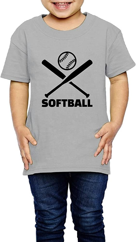 Kcloer24 Softball Boys Girls Organic T-Shirt Summer Tee 2-6 Years Old