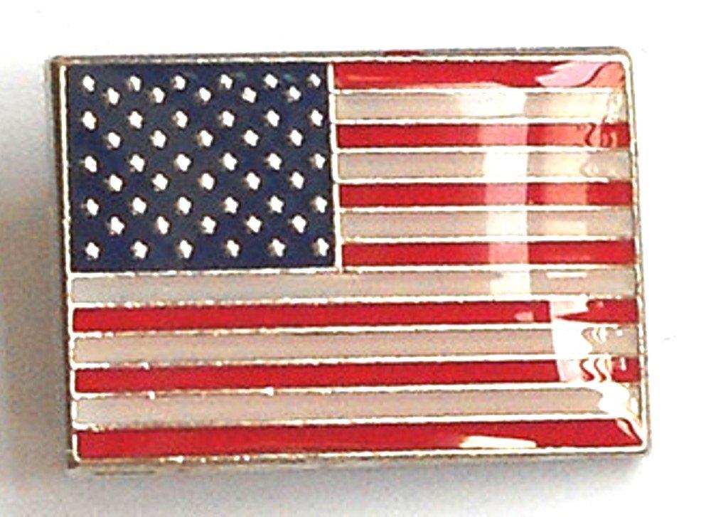 Broche en métal émaillé Motif drapeau américain USA (États-Unis) Mainly Metal