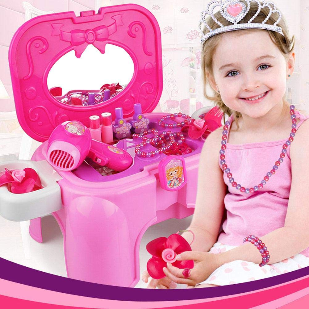 Children's Play Toy - Princess Dressing Table Toy Set Makeup Box Dressing Table Toy by HUVE (Image #2)