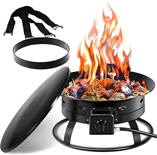 Giantex Firebowl Outdoor Portable Propane Gas Fire Pit