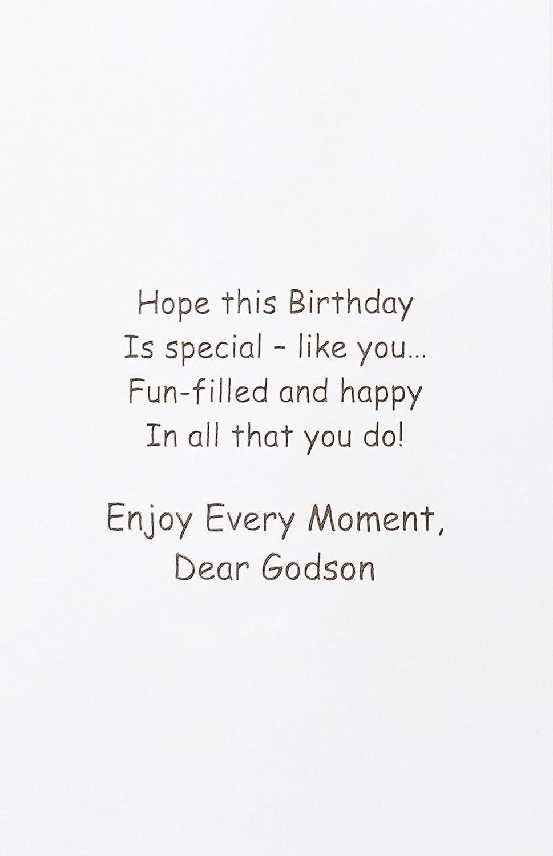 Amazon To My Dear Godson Happy Birthday Greeting Card