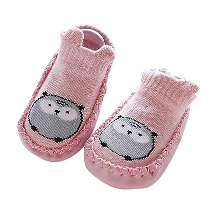 Calcetines de bebé con suela de goma calcetín infantil Calcetines de ...