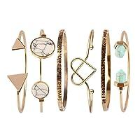 Beauty7 Kits de Bracelet Manchette Chaines Boheme Boho Bracelet Plage Ethnique Manuel Femme Cadeaux Noel