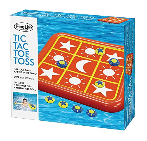 Inflatable Water Floats, Swimming Floats for Kids - Plastic, Tic-tac-Toe Toss (Sold by Case, Pack of 6) by FineLife (Image #1)
