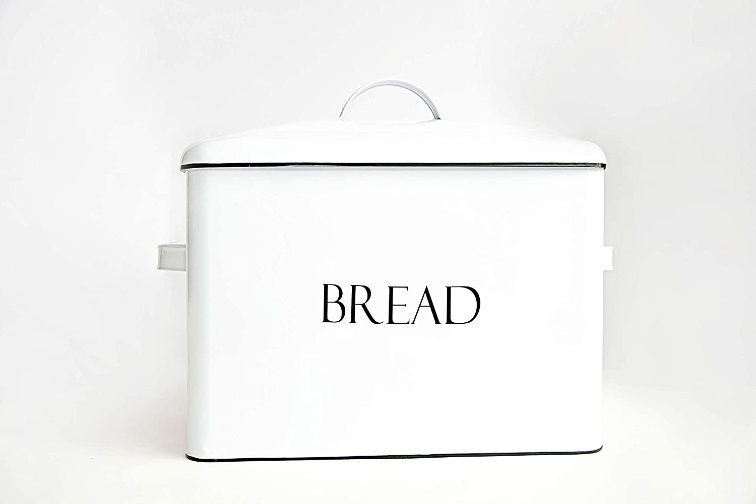 Vintage Metal Bread Bin - Countertop Space-Saving, Extra Large, High Capacity Bread Storage Box for your Kitchen - Holds 3 Loaves 13