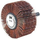 3M Flap Wheel Type 83 747D, Shaft Attachment, Ceramic Grain, 2'' Diameter, 1'' Width, 60 Grit, 25000 rpm  (Pack of 10)