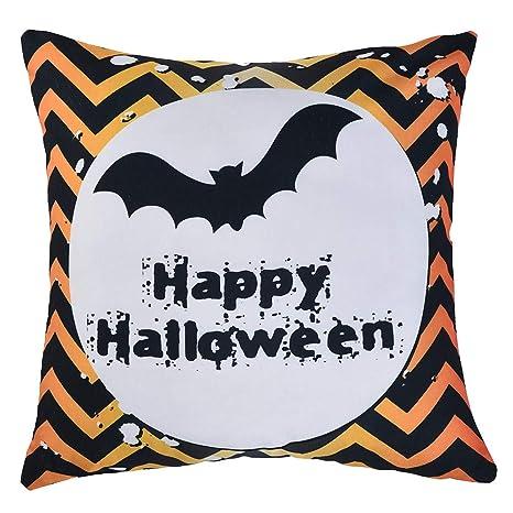 Oferta Cojines Decorativos.Mayogo Fundas Cojines Decorativos 45x45 Estampado Halloween