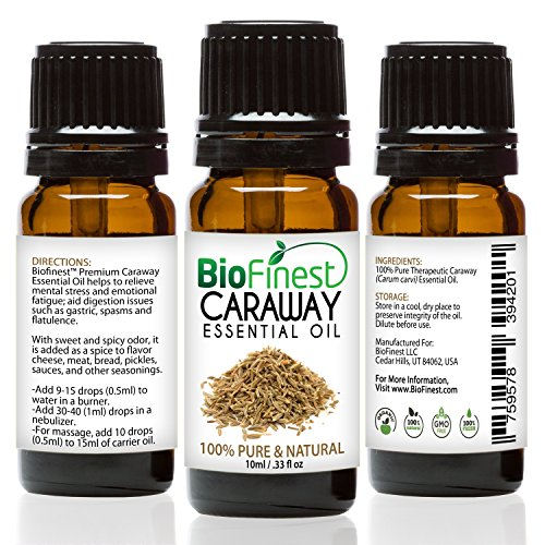 Biofinest Caraway Essential Oil - 100% Pure Undiluted, Premi